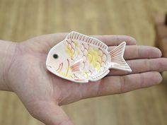 【豆皿】鯛 サイズ感