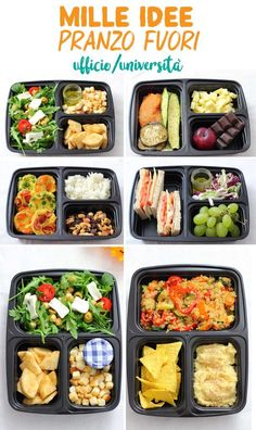 In today's post, we will see many ideas together to prepare delicious lunches for office/school/ university! Healthy Lunches For Work, Fast Healthy Meals, Healthy Meal Prep, Easy Healthy Recipes, Healthy Snacks, Cheap Clean Eating, Clean Eating Snacks, Healthy Eating, University Food
