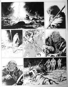 Thorgal - Les Archers par Grzegorz Rosinski, Jean Van Hamme - Planche originale