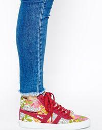 Image 4 of Gola Cyclone Liberty Print Sneakers