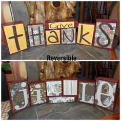 DIY Holiday Project! I would use wood boxes and paint each one by hand...if I had the time!,