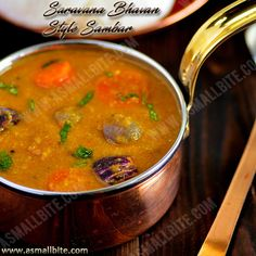 The secret of this Saravana Bhavan Style Sambar Recipe / Hotel Sambar is in grinding of tomato and fried gram, which makes a difference from other sambar. Sambhar Recipe, Kurma Recipe, Dal Recipe, Rice Recipes, Indian Food Recipes, Vegetarian Recipes, Cooking Recipes, Ethnic Recipes, Kitchens