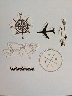 Travel Temporary Tattoos Pack  SmashTat by SmashTat on Etsy, $12.00