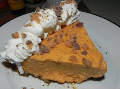 Frozen Pumpkin Mousse Pie #recipe #justapinch