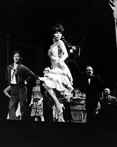 """IT COULDN'T PLEASE ME MORE"" (L. TO R.): ED NOLFI, BONNIE WALKER, BERT MICHAELS (BEHIND JILL'S LEG), JILL HAWORTH, JERE ADMIRE, SOL FRIEDER PHOTO CREDIT: PHOTO: FRIEDMAN-ABELES Cabaret - Original Broadway Cast Recording 1966 | The Official Masterworks Broadway Site #masterworksbroadway"