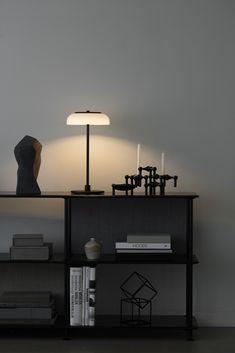 New lighting from Nuura - dark interiors - minimalist table lamp