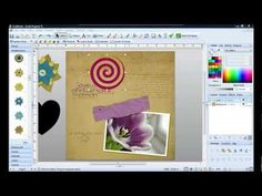 Change the colour of objects in Craft Artist - YouTube Scan And Cut, Craft Materials, Card Making Techniques, Serif, Digital Image, Digital Scrapbooking, Genealogy, Photoshop, Daisy