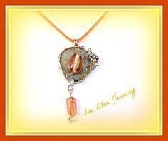 a Pebble gray color Necklace   GREEK ISLANDS by SueEllenDreamland Pebble Grey, Jewelry Gifts, Unique Jewelry, Beach Stones, Greek Islands, Soldering, Stone Jewelry, Gray Color, Gifts For Her