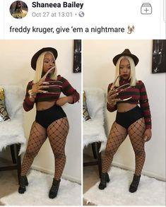 Black Girl Halloween Costume, Badass Halloween Costumes, Halloween Rave, Halloween Outfits, Halloween Makeup, Sexy Diy Costumes, Halloween Costumes Pop Culture, Halloween Ideas, Clown Makeup