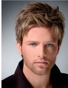 male hairstyle, works with blue eyes and lighter skin