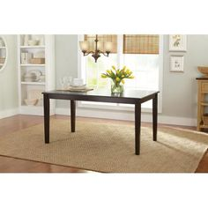 $99 Better Homes and Gardens Bankston Dining Table, Mocha   Note to Self:  soda table and dinning chair for studio layout.