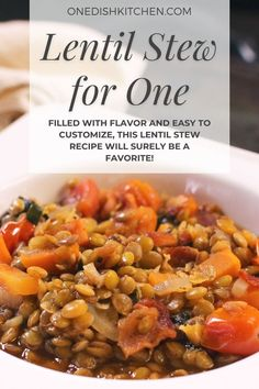 Rich and hearty lentil stew made with simple, healthy ingredients. Filled with flavor and easy to customize, this lentil stew recipe will surely be a favorite.