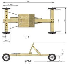 Easy Soap Box Derby Car Build: 7 Steps - Go kart plans - Stofftiere Soap Box Derby Cars, Soap Box Cars, Soap Boxes, Diy Soap Box Car, Wood Car, Wooden Go Kart, Woodworking Plans, Woodworking Projects, Wooden Scooter