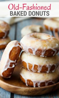 These Baked Old Fashioned Donuts will remind you just how delicious breakfast can taste! This simple donut recipe will give you familiar old fashioned donuts without all the hassle of rolling, cutting, and frying the dough. These old fashioned donuts are Easy Donut Recipe, Baked Donut Recipes, Baking Recipes, Dessert Recipes, Baked Buttermilk Donuts Recipe, Brunch Recipes, Doughnut Recipe Without Yeast, Classic Doughnut Recipe, Healthy Baked Donuts