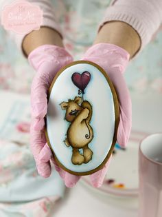 Bear cookie by My Sweet Art.