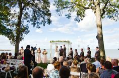 Waterfront Wedding Ceremony - PHOTO SOURCE • BOUNCING LIGHT PHOTOGRAPHY | Featured on WedLoft