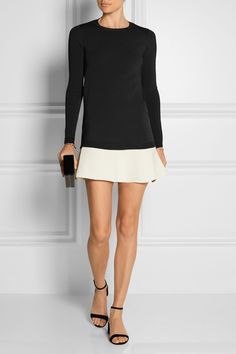 Valentino | Two-tone knitted mini dress | NET-A-PORTER.COM