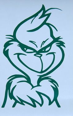 2X GRINCH FACE GREEN VINYL DECAL CHRISTMAS STICKERS NEW # 22