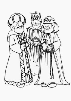 Print this Nativity colouring page of the three kings or three wise men, part of a complete set of Nativity colouring pages at Activity Village for younger children Nativity Coloring Pages, Bible Coloring Pages, Coloring Pages For Kids, Coloring Sheets, Coloring Books, Free Christmas Coloring Pages, Catholic Kids, Three Wise Men, Preschool Christmas