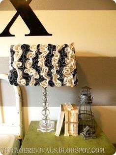 lamp shade re-dos...so cute so cheap to do, and they look like a million bucks!!