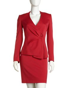 Two-Piece Gabardine Suit by Albert Nipon at Last Call by Neiman Marcus.