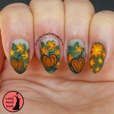 Lady Maid Nails: Pumpkin Nail Art