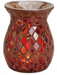 Czerwono złota mozaika - Kominek