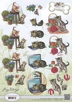 3D Knipvel - Amy Design - Animal Medley - Felines