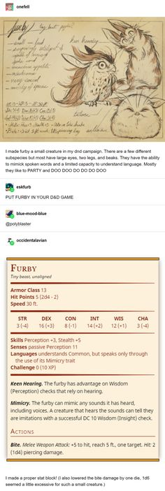 Put a Furby in your campaign TODAY! - dndmemes