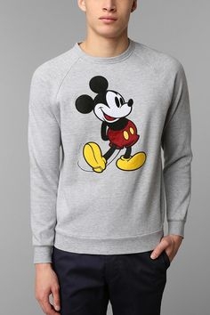 I want this for winter! Classic Mickey Mouse Sweatshirt.