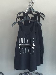 Inhale Exhale Tank by SummerButlerDesigns on Etsy