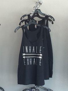 Inhale Exhale Tank by SummerButlerDesigns on Etsy