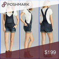 Paige RIKKI Shortall Overalls Jean denim shorts Ahhsome  BNWT!  Paige RIKKI Shortall overall in gramercy wash  Sz medium  Imported made in china AUTH tis where they made these..purchased at bloomingdales some time ago NEVER WORN. Do ur research pls I NEVER sell fakes . Msrp was $249 **NOT SURE I WANT TO SELL THESE A GR8 OFFER WOULD HELP ME DECIDE LOL** PLS NOTE THESE RUN a lil Big slouchy I prefer mine oversized .ALSO NOT CUFFED SO CAN BE WORN CUFFED OR UNCUFFED.. pics aso girl were coped…