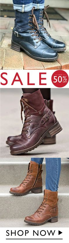 Women's Lace-Up Daily Ankle Boots Shop Now, Ankle Boots, Lace Up, Shopping, Shoes, Collection, Fashion, Ankle Booties, Moda