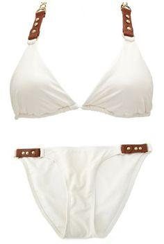 PU Trim String Bikini Bottom | Charlotte Russe