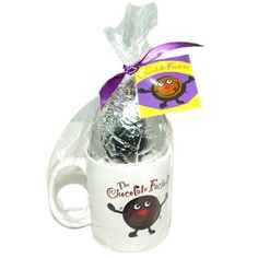 EGG & MUG WITH SWING TAG 100g hollow milk chocolate egg -  shelf life: 12 months  full colour printed tag