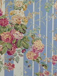 Capesthorne Floral - Delphinium Blue by Ralph Lauren Fabric I want this in WALLPAPER!
