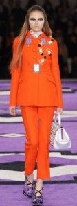 Prada's Fall 2012 design is influenced by the 1970′s.