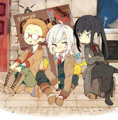 Gray-man Allen Walker, Yuu Kanda, Timcanpy, and Johnny Gill Anime Couples Manga, Cute Anime Couples, Anime Girls, Fan Anime, Anime Art, Lenalee Lee, Allen Walker, Natsume Yuujinchou, D Gray Man