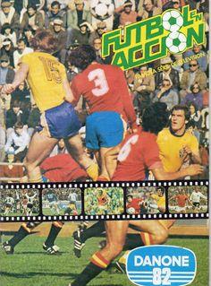Albun de cromos futbol en accion Danone82,mundial España82