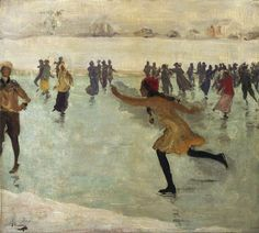 Sir John Lavery:  The Skater, 1912