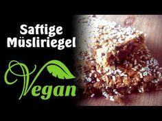 Rezept mit Video: Saftige vegane Müsliriegel selber machen (Gebacken)