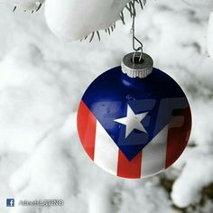 Puerto Rican flag christmas ornament!