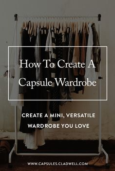 How to create a capsule wardrobe you will love. Capsules walks you through a step-by-step process to create a mini, versatile capsule wardrobe. Looks Street Style, Looks Style, Style Me, Classic Style, Do It Yourself Fashion, Do It Yourself Home, Look Fashion, Street Fashion, Womens Fashion