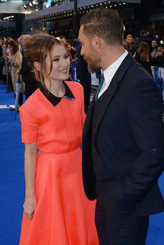 Emily Browning and Tom Hardy  | Legend UK Premiere | Odeon Leicester Square | September 3, 2015 | London