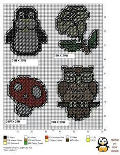 mini magnets in plastic canvas Plastic Canvas Coasters, Plastic Canvas Ornaments, Plastic Canvas Crafts, Plastic Canvas Patterns, Needlepoint Patterns, Cross Stitch Patterns, Mini Magnets, Canvas 5, Canvas Ideas