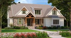 Embry Hills House Plan - The Embry Hills is a Craftsman design in every sense of the word.