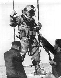 Mark V diver ready to go down.