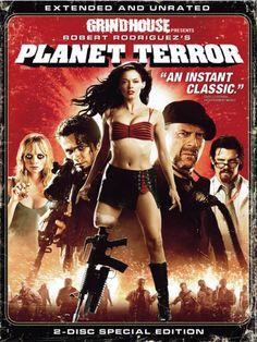 """""""Planet Terror"""", dirigida por Rodríguez, se trata de una película de zombies. Mientras los afectados por un extraño virus se convierten en un ejército de agresores enloquecidos, Cherry, una bailarina de striptease lisiada, y su ex-novio Wray dirigen un espontáneo equipo de guerreros, adentrándose en la noche hacia un destino que dejará millones de afectados, infinidad de muertos y unos cuantos afortunados supervivientes que lucharán por encontrar el último rincón seguro en el mundo."""