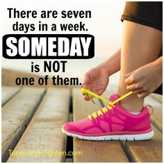 Pile up enough tomorrows, and you will find you are left with a lot of empty yesterdays. Make today your day!! #fitness #motivation #inspiration from Tone-and-Tighten.com